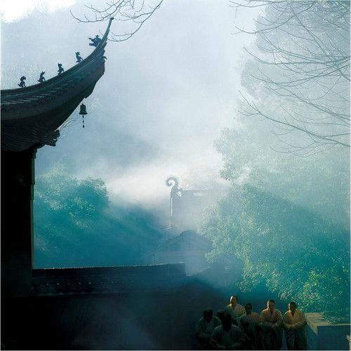 佛的足迹空灵唯美的佛教摄影