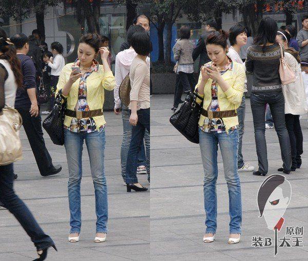 来看看重庆街头美女街拍图片