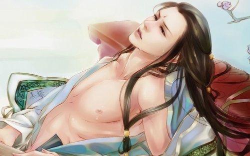 古风桃花妆 cosplay古风妆 古风妖孽女妆高清图片