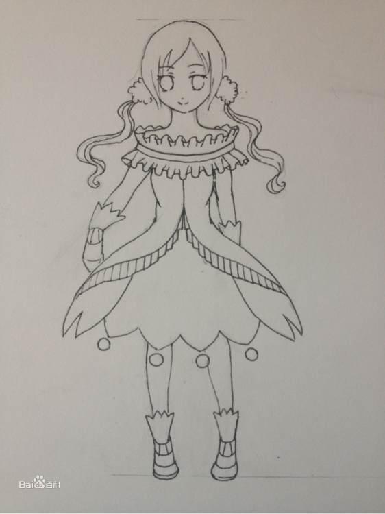 画_美少女简笔画图片可爱_超萌卡通少女简笔画_简笔画少女画法步骤图
