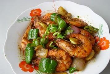 吮指咖喱虾是牛排青椒,制作原料是虾,美食,洋葱.麦德龙有一道吗图片