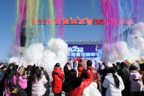 冰雪节以冰雪森林为主题已连续办了七届,深受各地游客的青睐.图片
