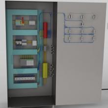 控制柜接线后模型