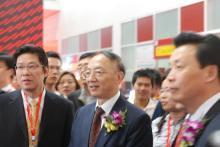 国家体育总局局长刘鹏参观爱动