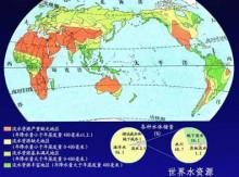 全球水资源分布图