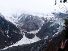 云南迪庆梅里雪山明永冰川的冰舌
