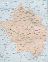 保康县地图