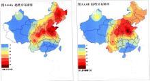 赵氏的地理分布频率