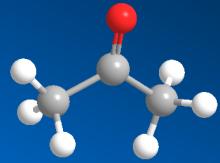 丙酮球棍模型
