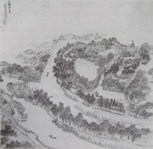 明 张宏《止园》册 (止园全景图)