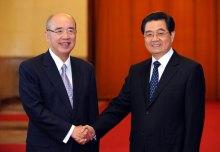 胡锦涛在人民大会堂会见吴伯雄