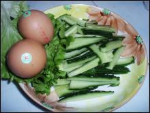 鸡蛋炒黄瓜配料照片