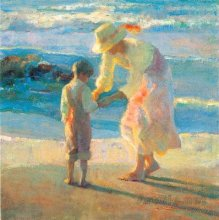母亲节油画