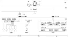 软件主画面的一次接线图显示工程名称,开关柜编号,回路编号及回路图片