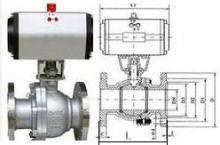 3       4部件材料编辑 q641f,q641y 型 pn16~pn63 气动球阀零部件图片