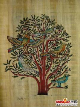 埃及纸莎草纸画图片