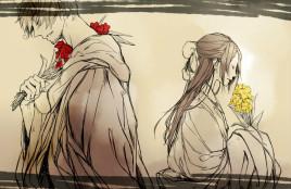 对西/藏(动画里改为了一只大熊猫)说自己是菊的大哥,但是菊迟疑了图片
