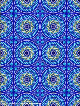 散点式四方连续纹样