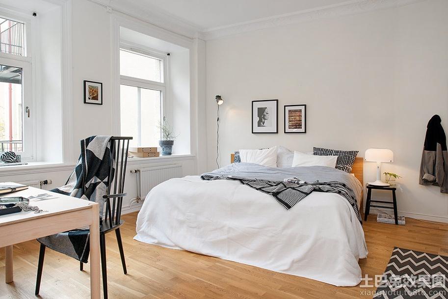 北欧小户型卧室布置效果图图片
