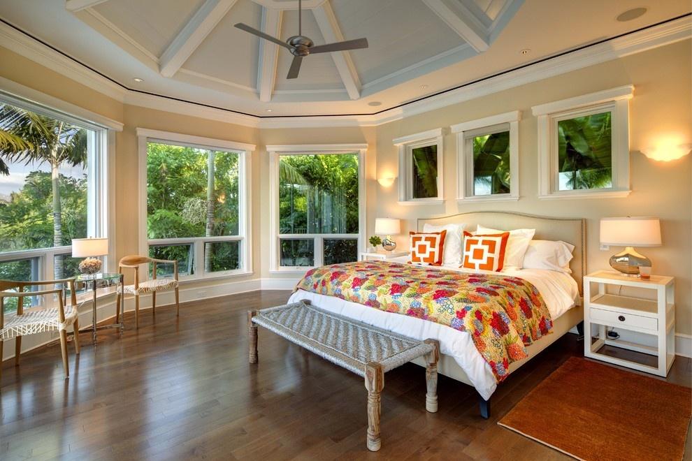 简欧式别墅主卧室装修效果图图片