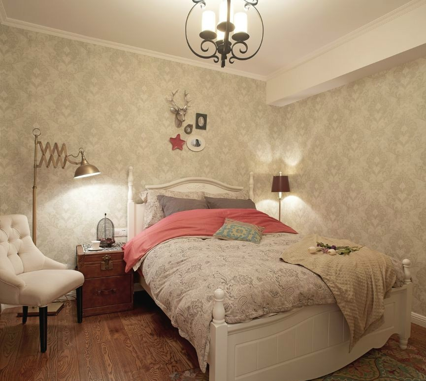 欧式卧室壁纸装修效果图2013图片