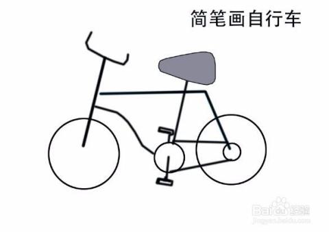 photoshop简笔画自行车图片