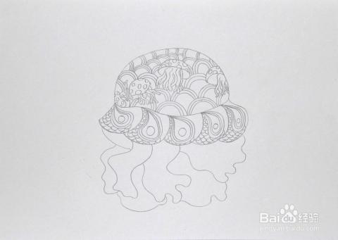 幼儿园托印画水母之家