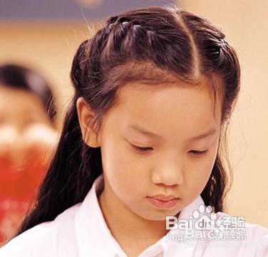 小女孩发型绑扎起来还是挺优雅的.图片