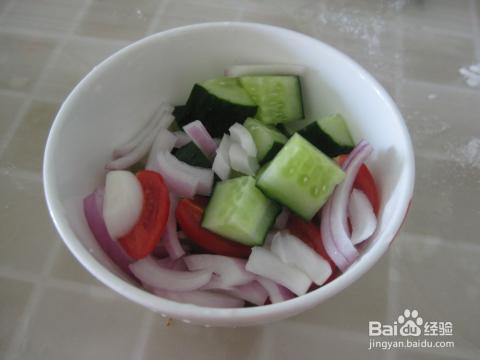 在家做简易蔬菜沙拉_素菜_百度经验图片
