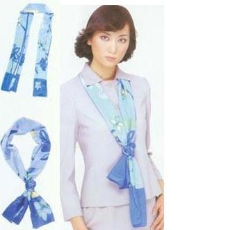 长形丝巾的系法图片