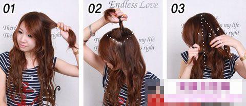 韩式麻花辫发型扎法图片