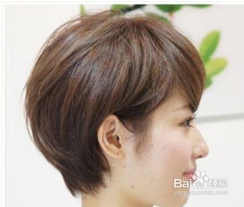 清爽短发发型图片