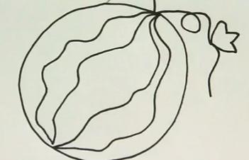如何用画笔画西瓜图片