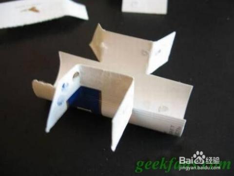 科技小制作-烟盒手工制作一架飞机图片