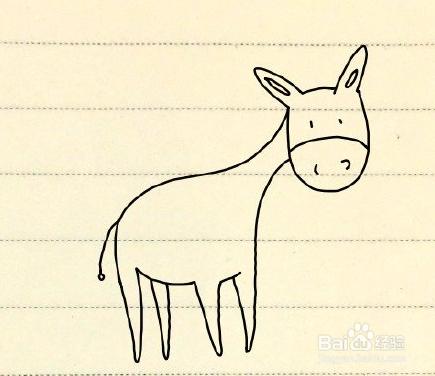 卡通动漫 简笔画 -调皮的小毛驴驴简笔画_关于驴的简笔画图片-驴卡通