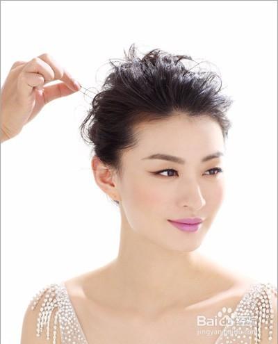 唯美新娘发型教程图片