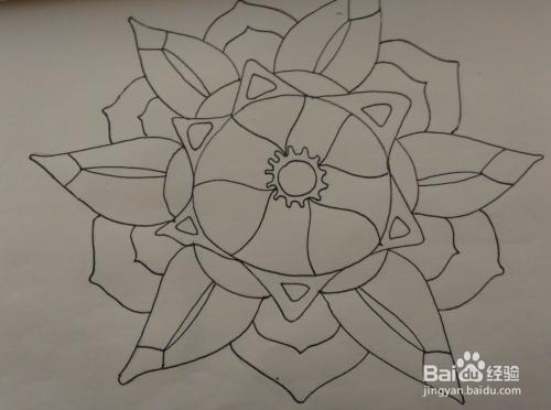 花卉类黑白装饰画绘画技法图片