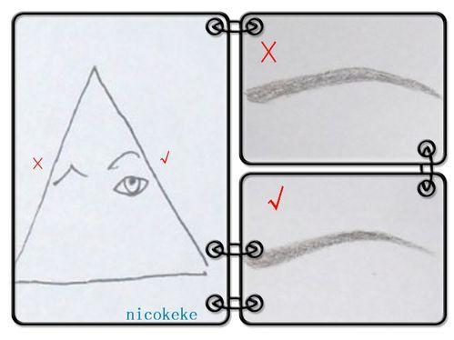 眉形画法素描图片 标准眉形的纸上画法图,各种眉形的画法