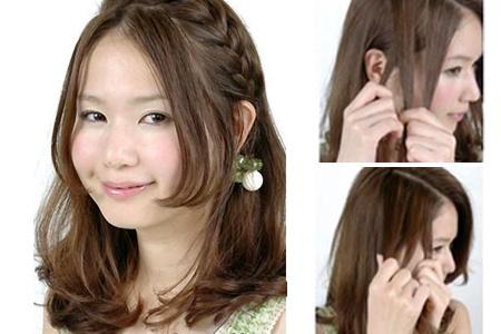 小编意见:    这款编发发型不仅超简单而且显得特别别致可爱,最图片