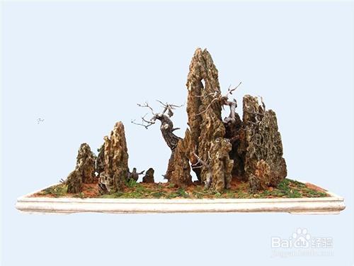 水泥山石盆景制作视频