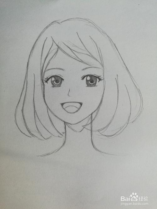 动画女生嘴巴画法图片