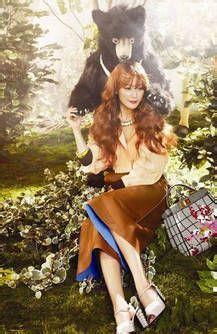 韩国女星时尚服装搭配变身森林公主