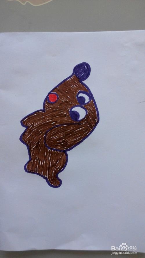 儿童简笔画小狗的画法图片