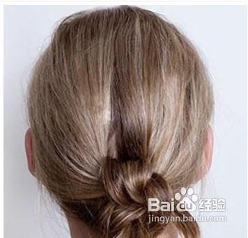 学做时髦打结发型图片