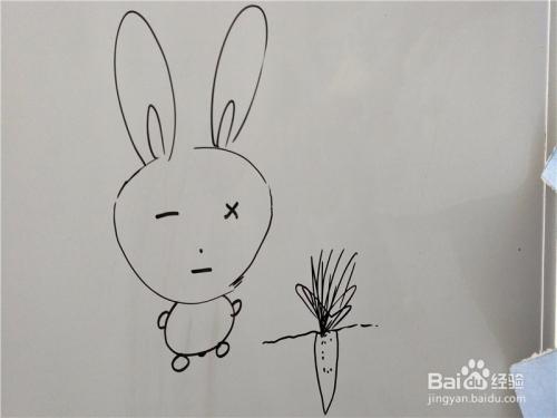 儿童简笔画之流氓兔的画法