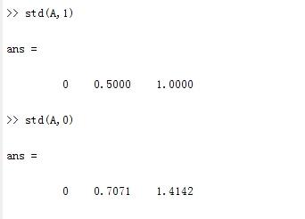 matlab std函数 用法及实例