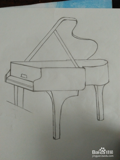 手工/爱好 > 书画/音乐  2 我们借助于尺子画直线,我们先把钢琴的中间图片