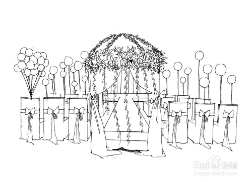 如何画好一张婚礼手绘效果图