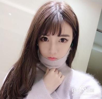 韩式空气刘海中长发发型图片