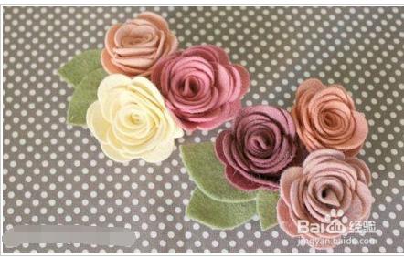 手工制作玫瑰花步骤,玫瑰胸花的手工做法图解